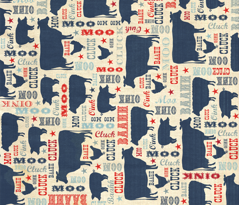 American Almanac fabric by bzbdesigner on Spoonflower - custom fabric