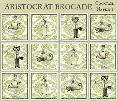 Aristocrat  Brocade / cocktail napkins