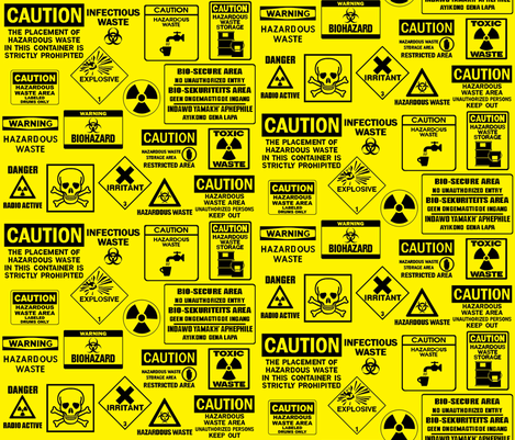 Caution fabric by flying_pigs on Spoonflower - custom fabric