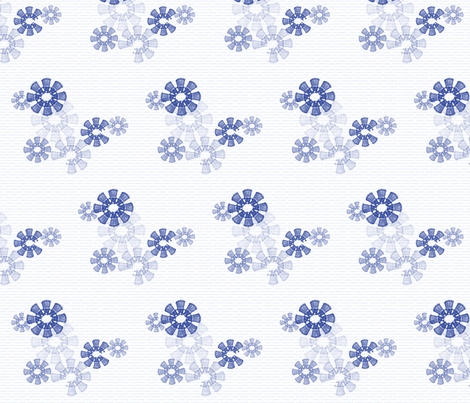 Snowflake Daleks - TardisBlue fabric by 3o'clockbadger on Spoonflower - custom fabric