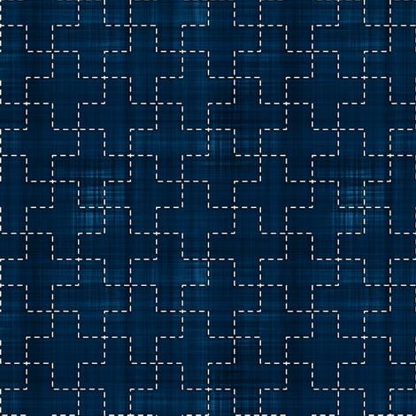 Sashiko: Jyuji-Tsunagi - Cross fabric by bonnie_phantasm on Spoonflower - custom fabric