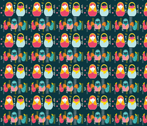nesting dolls fabric by annaboo on Spoonflower - custom fabric