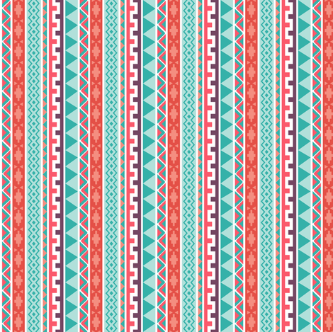 Tribal Pattern fabric by holladay on Spoonflower - custom fabric