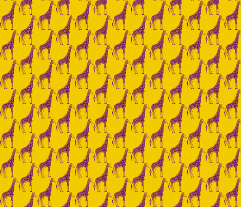 Giraffe fabric by littlebeardog on Spoonflower - custom fabric
