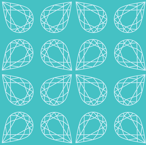 Turquoise Pear fabric by oceanpien on Spoonflower - custom fabric