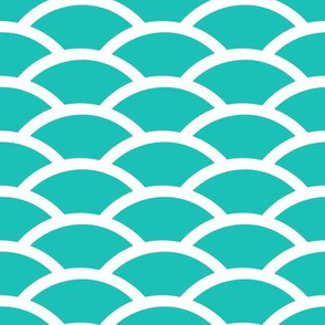 Scallop in Turquoise