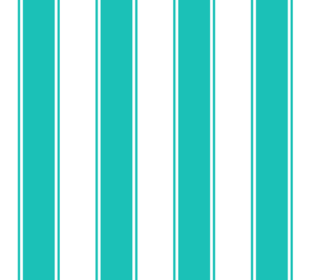 Fat Stripes Cabana in Turquoise or Aqua fabric by fridabarlow on Spoonflower - custom fabric