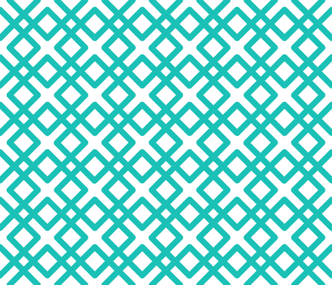 Modern Weave in Turquoise fabric by fridabarlow on Spoonflower - custom fabric