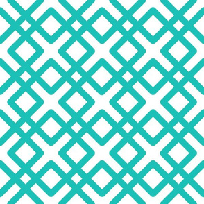 Modern Weave in Turquoise or Aqua