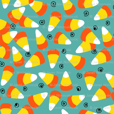 candy corn teal