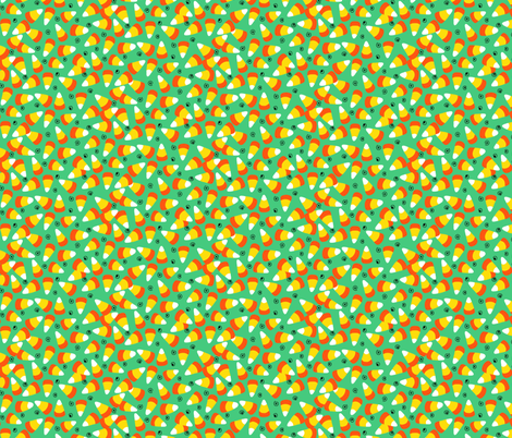candy corn green fabric by beebumble on Spoonflower - custom fabric