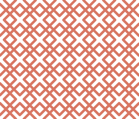 Weave in Salmon / Coral / Tuscany fabric by fridabarlow on Spoonflower - custom fabric