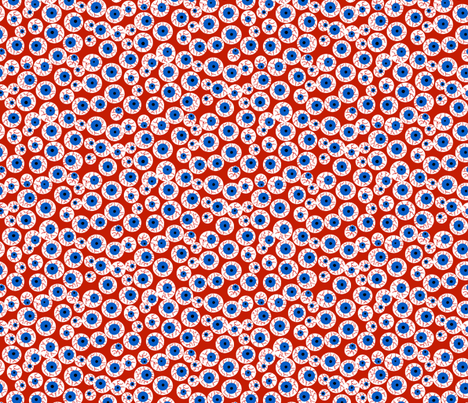 Eyeballs red fabric by beebumble on Spoonflower - custom fabric