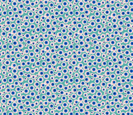 Eyeballs teal fabric by beebumble on Spoonflower - custom fabric