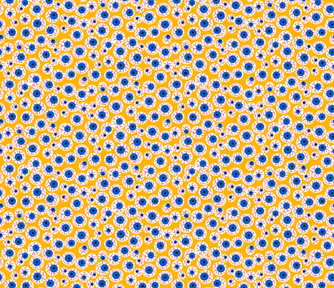 Eyeballs yellow fabric by beebumble on Spoonflower - custom fabric
