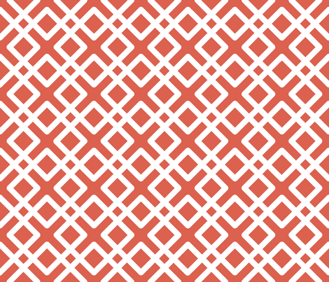 Modern Weave in Coral / Salmon fabric by fridabarlow on Spoonflower - custom fabric