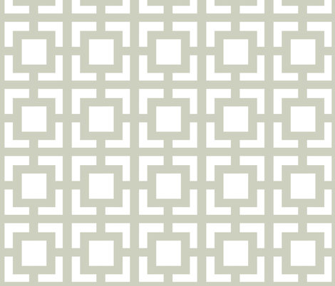 Moroccan Square in Light Gray Sage fabric by fridabarlow on Spoonflower - custom fabric