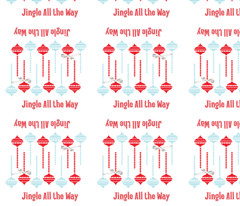 JingleAllTheWayNapkin fabric by curlywillowcollections on Spoonflower - custom fabric