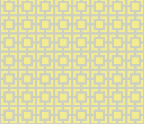 Smaller Moroccan Square in Yellow and Gray fabric by fridabarlow on Spoonflower - custom fabric