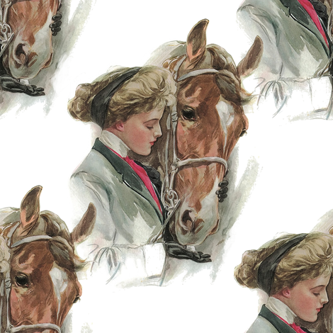 Equestrienne fabric by peacoquettedesigns on Spoonflower - custom fabric