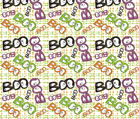 Boo 2 fabric by lauralvarez on Spoonflower - custom fabric