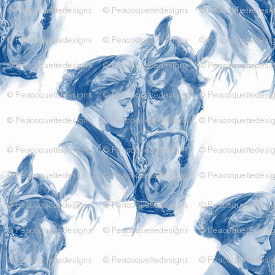 Equestrienne ~ Blue & White