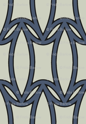 Modern Deco in Navy Blue and Gray