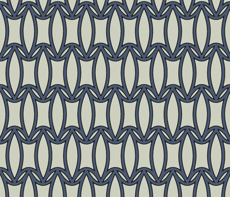 Peony in Navy Blue and Gray fabric by fridabarlow on Spoonflower - custom fabric