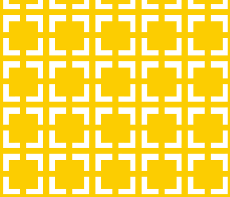 Moroccan Solid Square in Canary Yellow fabric by fridabarlow on Spoonflower - custom fabric