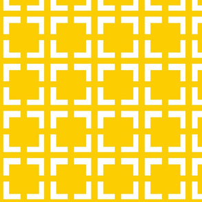 Moroccan Solid Square in Yellow