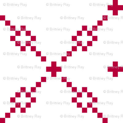 Red Checker Pattern