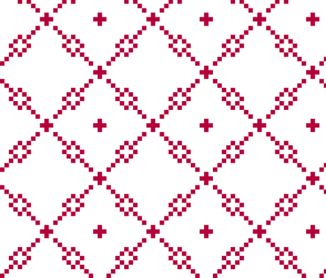 Red Checker Pattern fabric by pond_ripple on Spoonflower - custom fabric
