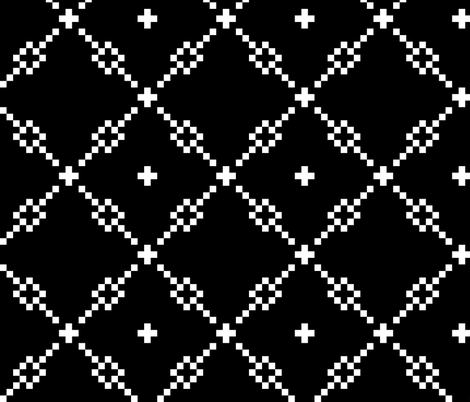Black Checker Pattern fabric by pond_ripple on Spoonflower - custom fabric