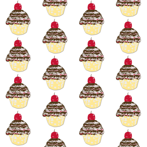 Cupcake Love-ch-ch fabric by karenharveycox on Spoonflower - custom fabric