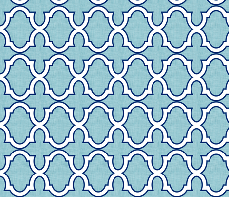 Claudette Ocean fabric by crisbucknall on Spoonflower - custom fabric