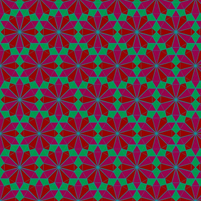 Colorful Tessellated Pointed Wheel - Pink, Red, Blue, Green