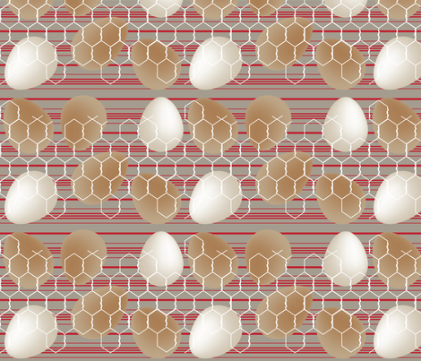 Organic, Farm Fresh - Red fabric by owlandchickadee on Spoonflower - custom fabric