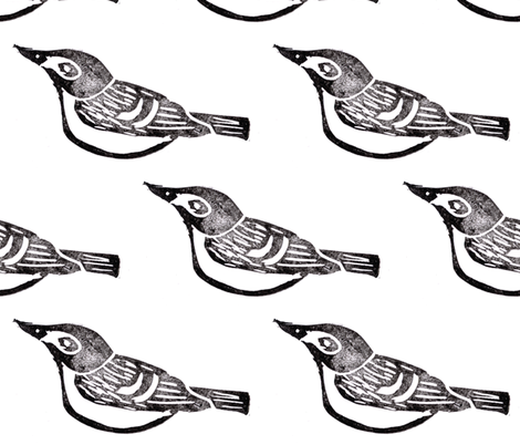 black-capped-vireo-large fabric by owlandchickadee on Spoonflower - custom fabric
