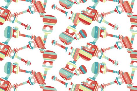 Stripey Ukes - 6 fabric by owlandchickadee on Spoonflower - custom fabric