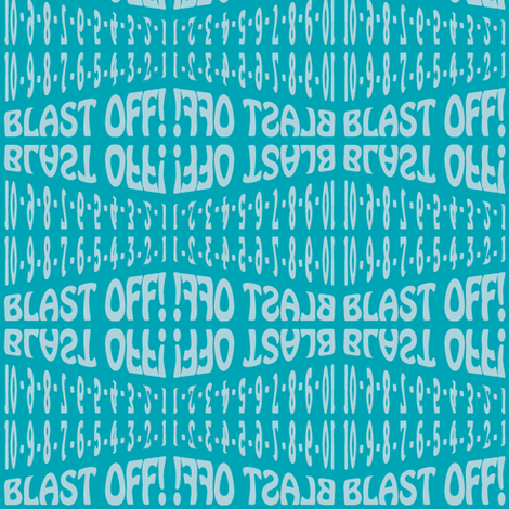 Blast Off fabric by eleasha on Spoonflower - custom fabric