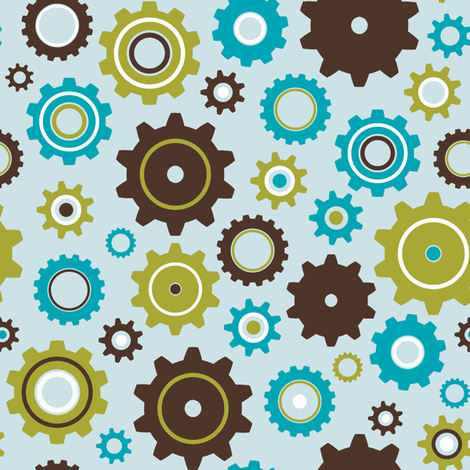 Cogs fabric by eleasha on Spoonflower - custom fabric