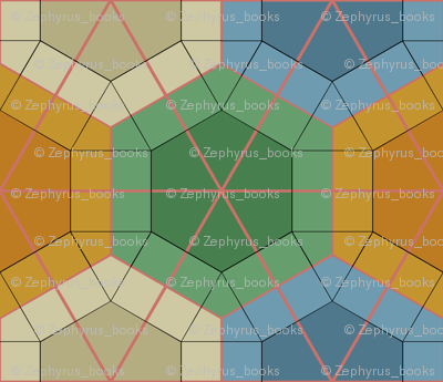 Colorful Tessellated Hexagonal Wheel