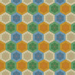 Colorful Tessellated Hexagonal Wheel