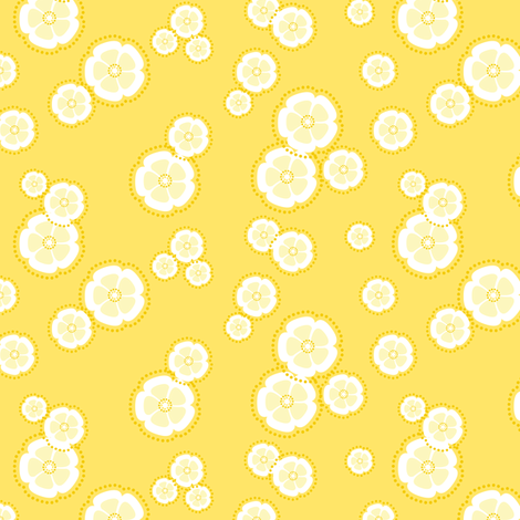 kanzashi blossoms - perfect yellow fabric by fox&lark on Spoonflower - custom fabric