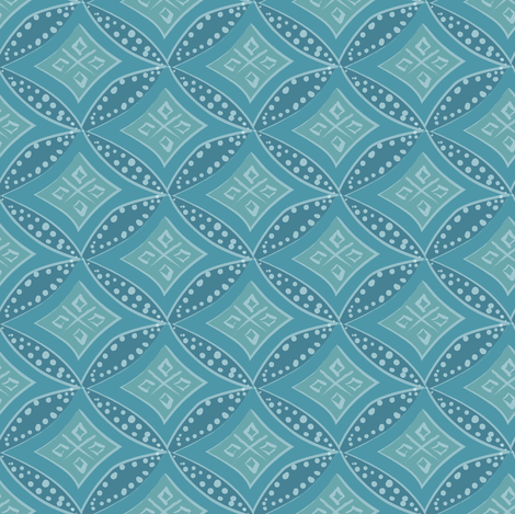 kimono diamond - ocean teal fabric by fox&lark on Spoonflower - custom fabric