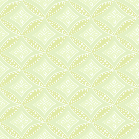 kimono diamond - pale chartreuse fabric by fox&lark on Spoonflower - custom fabric