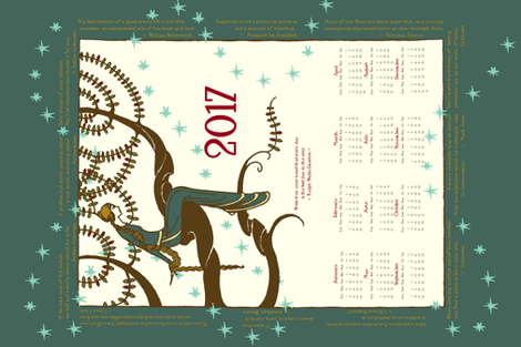 2017 Inspirational Tea Towel  fabric by miart on Spoonflower - custom fabric