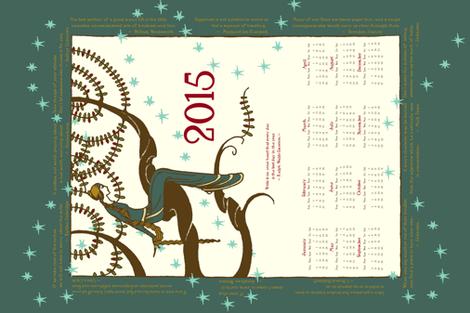 Linen-Cotton Canvas 2015 Inspirational Tea Towel  fabric by miart on Spoonflower - custom fabric
