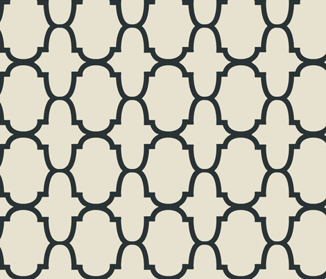Quatrefoil- Charcoal fabric by melberry on Spoonflower - custom fabric