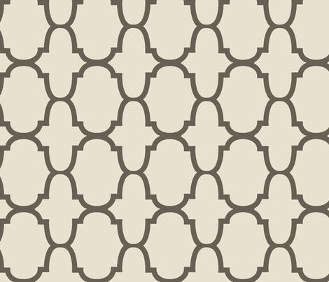 Quatrefoil- Taupe fabric by melberry on Spoonflower - custom fabric